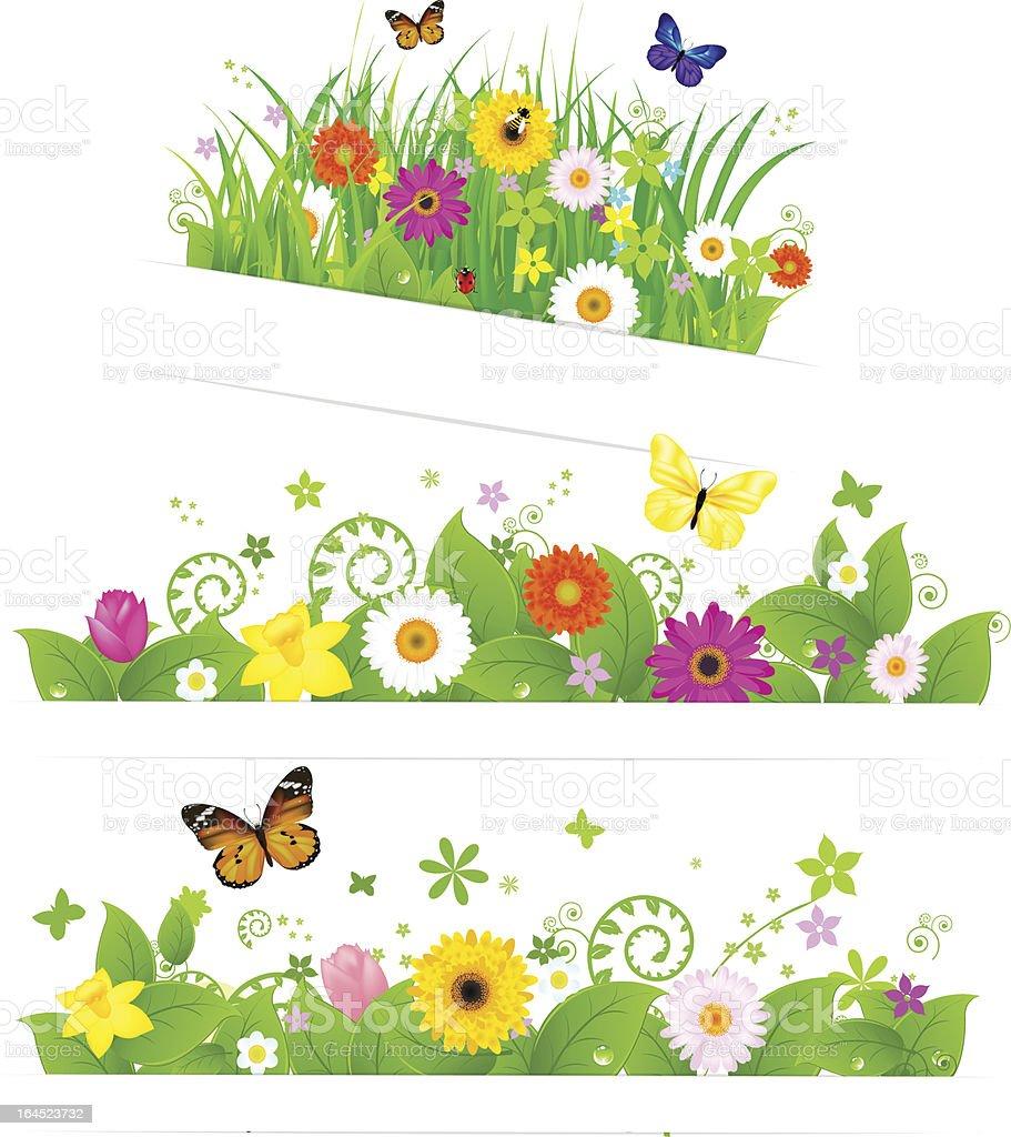 Spring Flower Bouquet vector art illustration