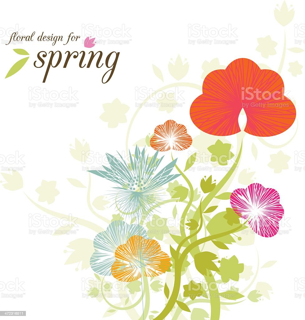 Spring flower design and copy space royalty-free stock vector art