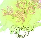 Spring Flower Drawing