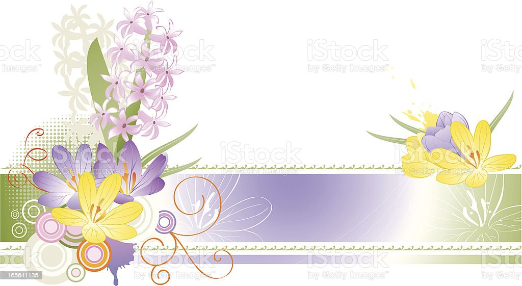 Spring Flower Easter Background vector art illustration