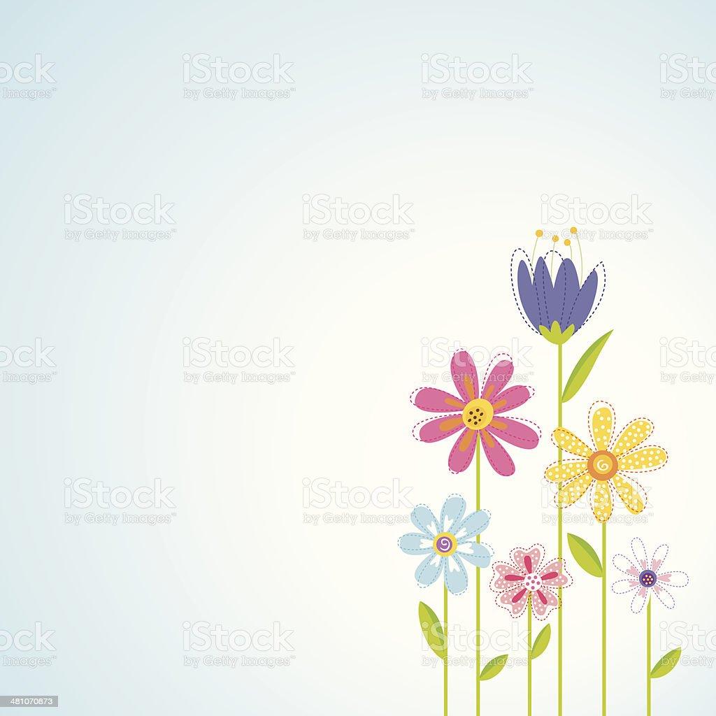 Spring Flowers Background vector art illustration