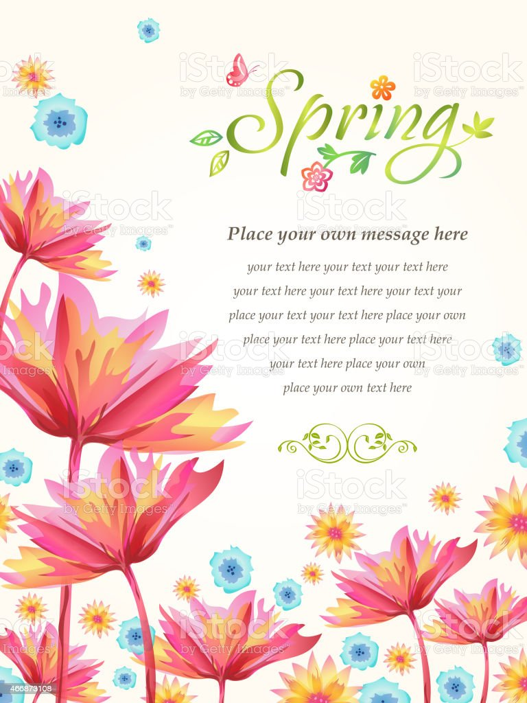 Spring Flowers Bloom vector art illustration