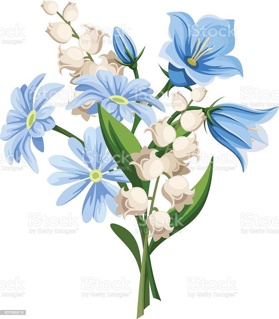Spring flowers bouquet. Vector illustration. vector art illustration