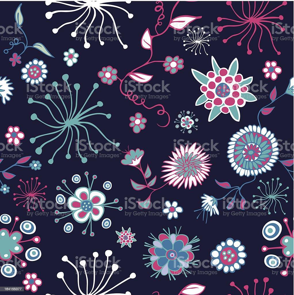Spring flowers pattern royalty-free stock vector art