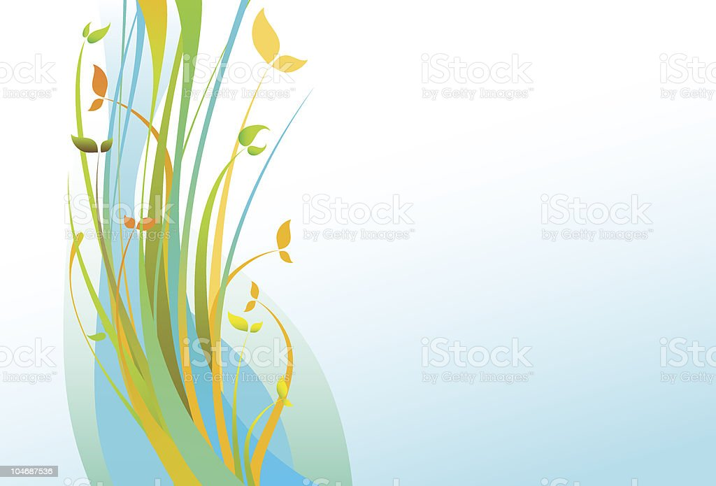 Spring Flowers Vector Floral Ornament Colorful Background royalty-free stock vector art