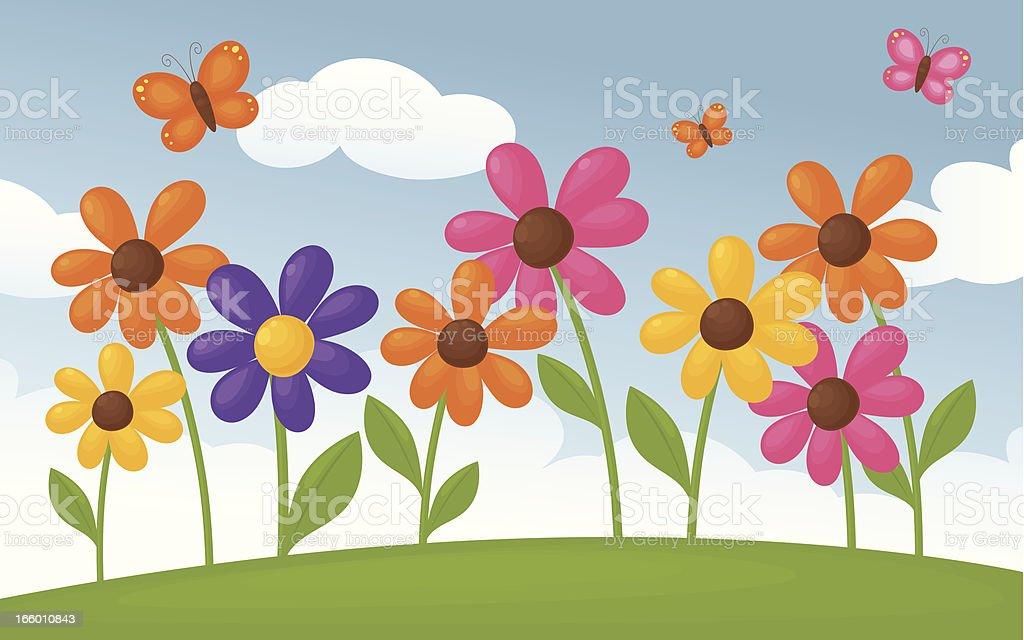 Spring Flowers royalty-free stock vector art