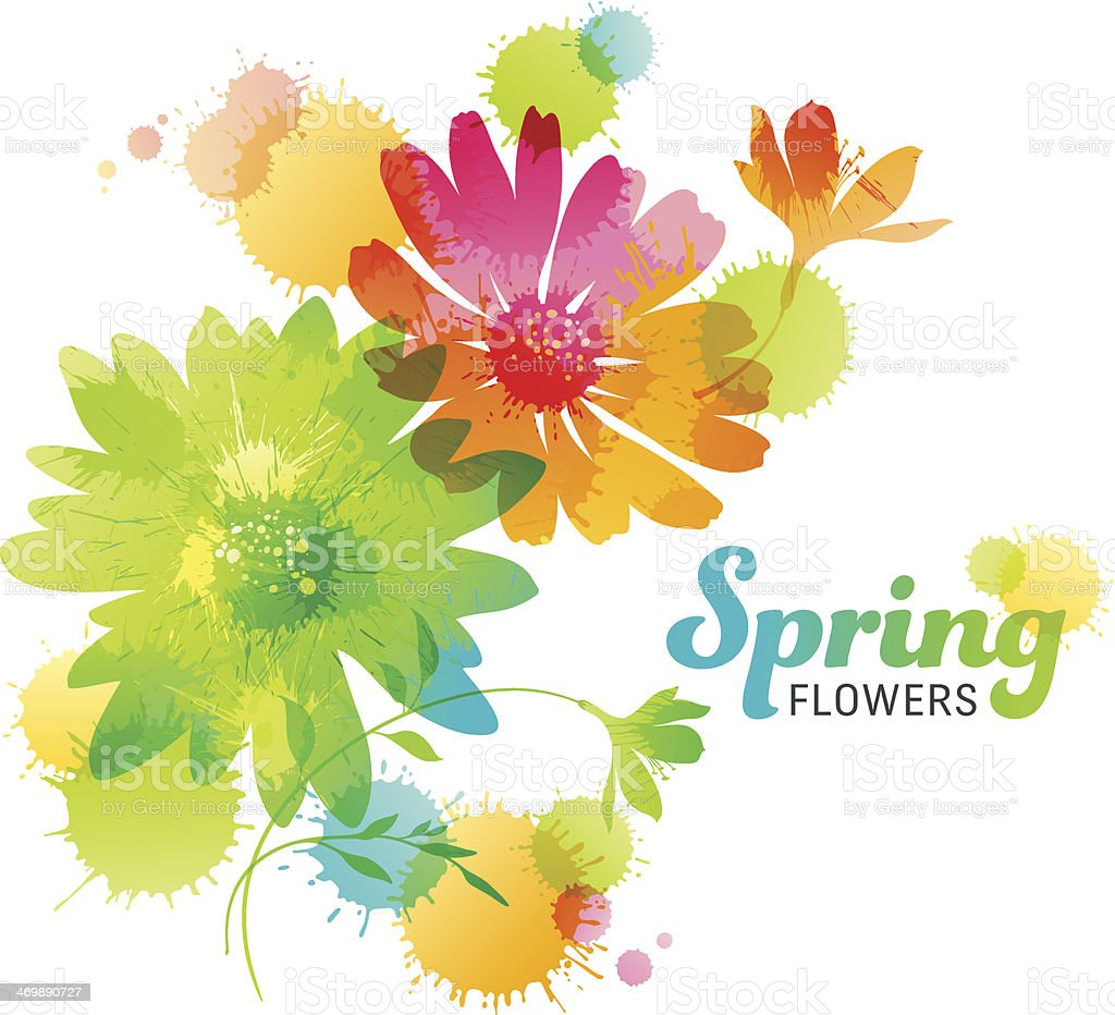 Spring Flowers vector art illustration