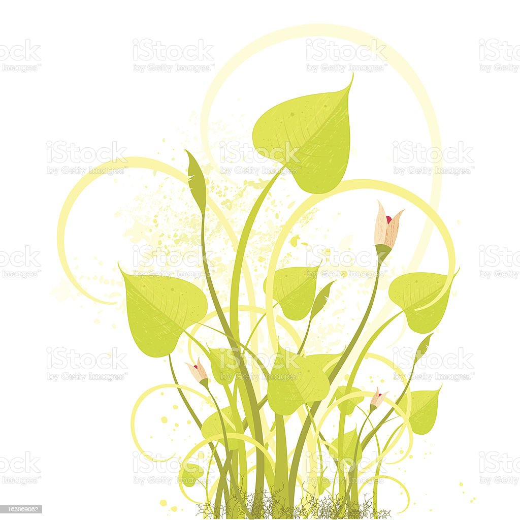 Spring Foliage Background royalty-free stock vector art