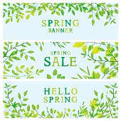 Spring foliage banners