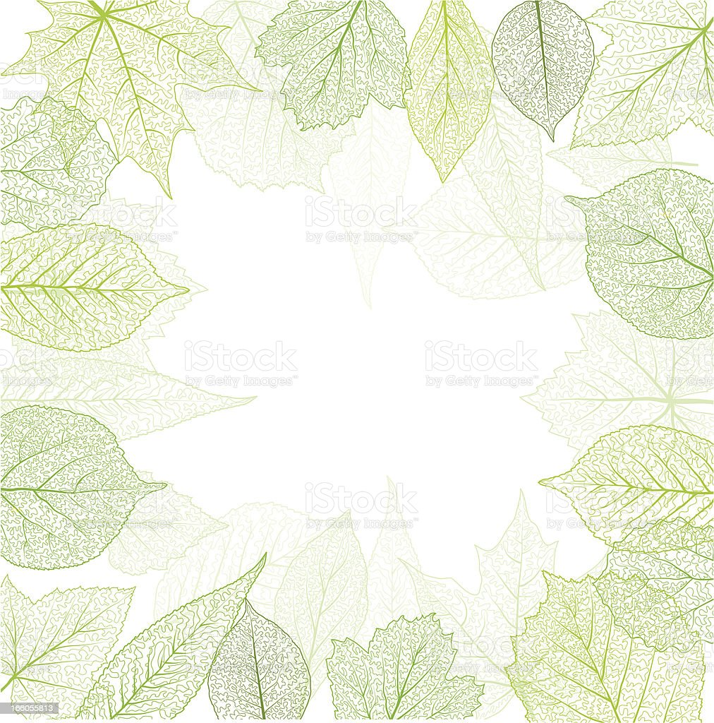 Spring frame royalty-free stock vector art