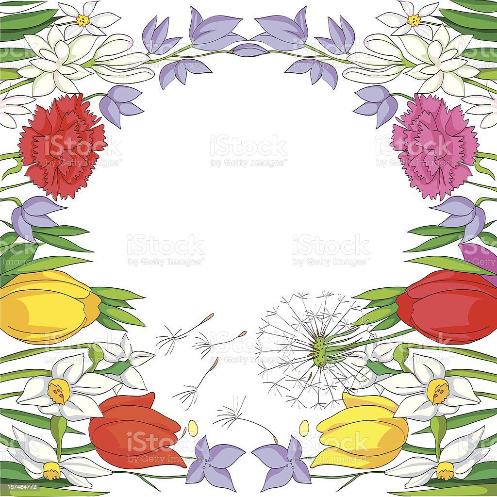 Spring frame royalty-free stock vector art