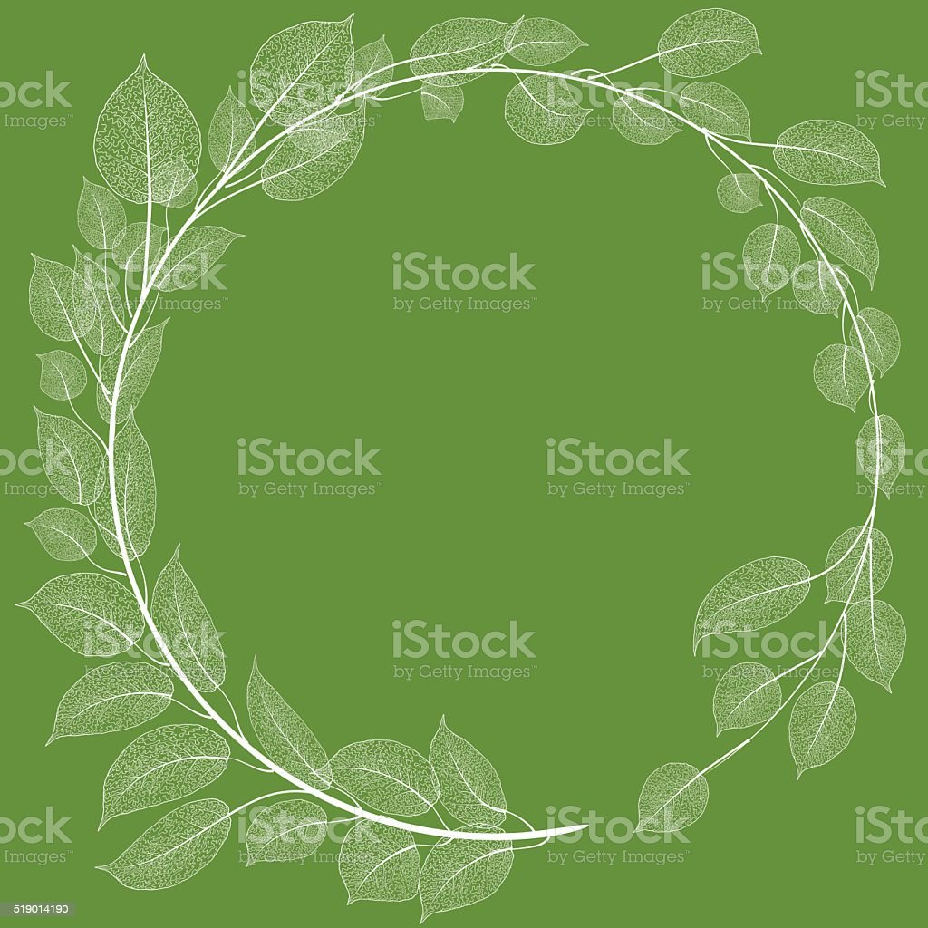 Spring frame vector art illustration