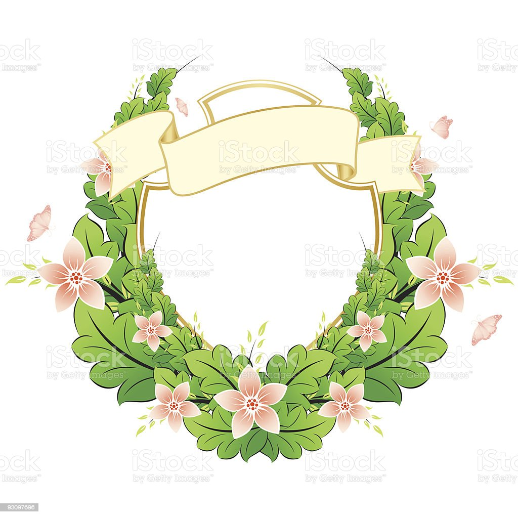 Spring frame with flowers royalty-free stock vector art