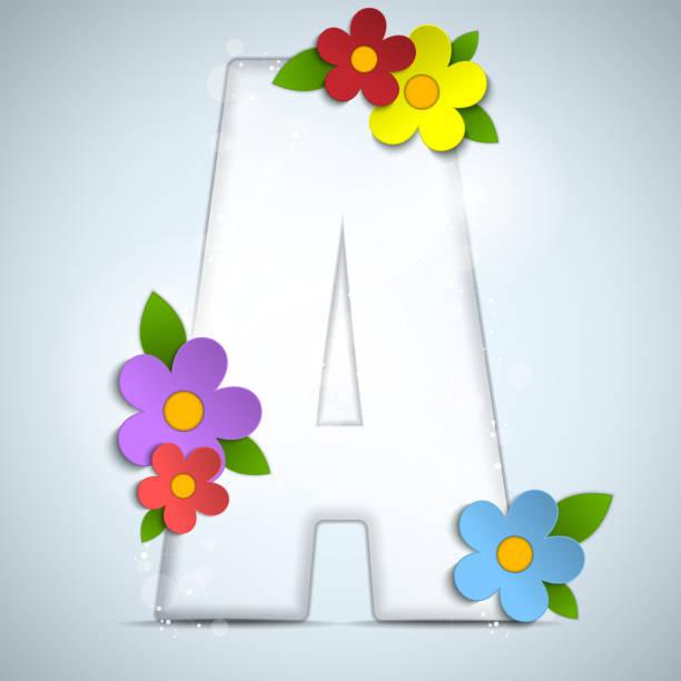 Alphabet Single Flower Flower Letter A Clip Art, Vector ...