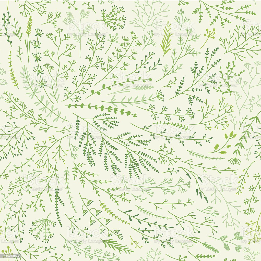 Spring grass pattern vector art illustration