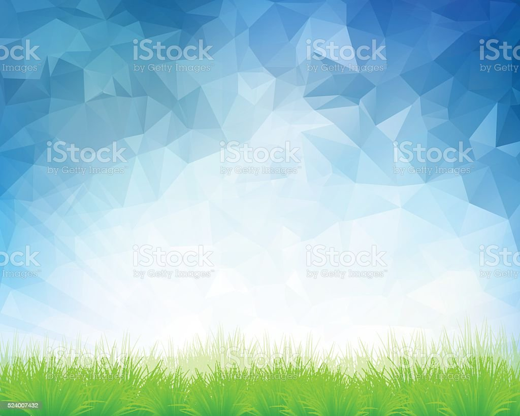 Spring Grass vector art illustration