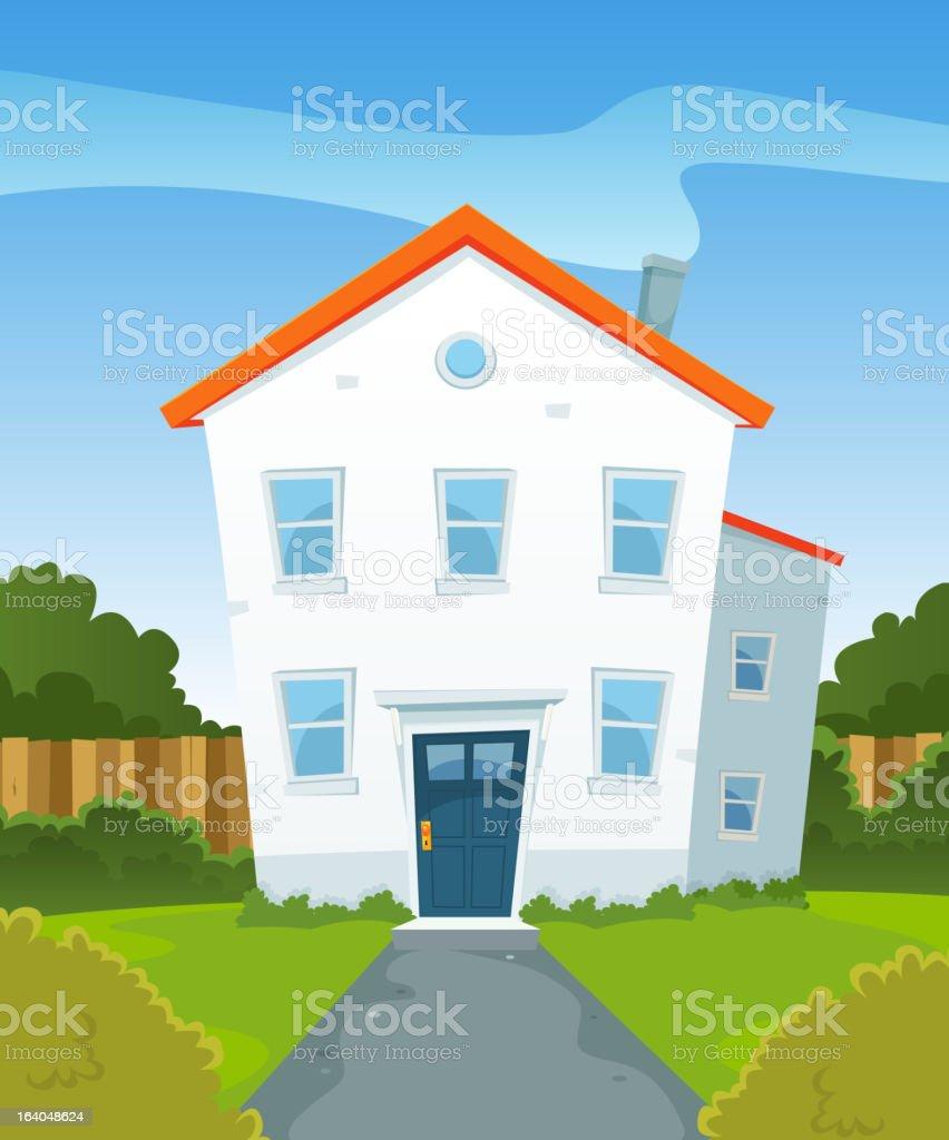 Spring House In Garden royalty-free stock vector art