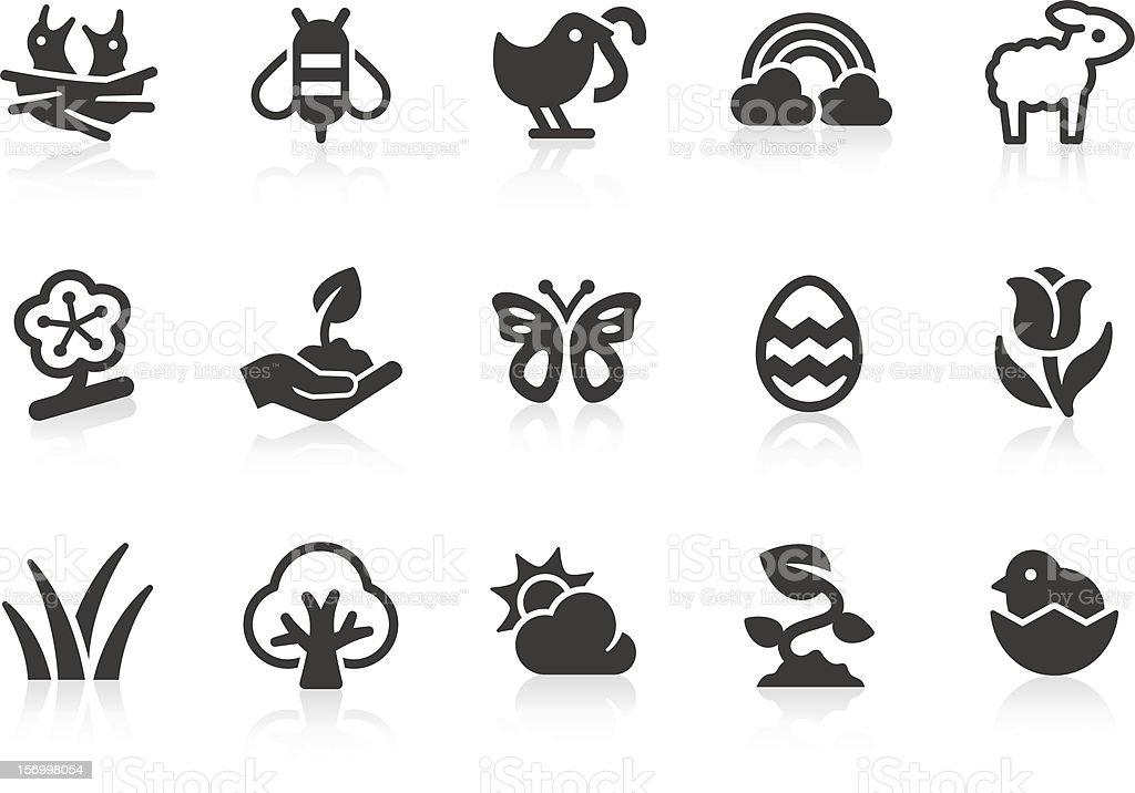 Spring icons vector art illustration