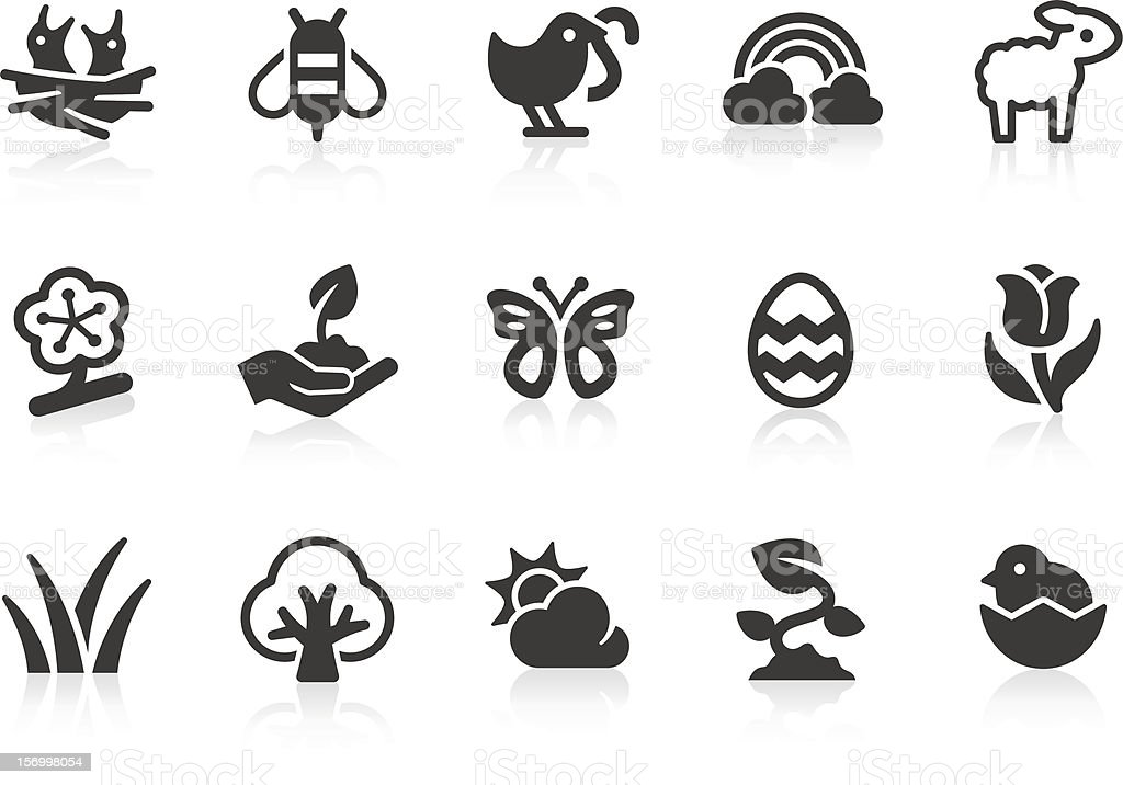 Spring icons vector art illustration