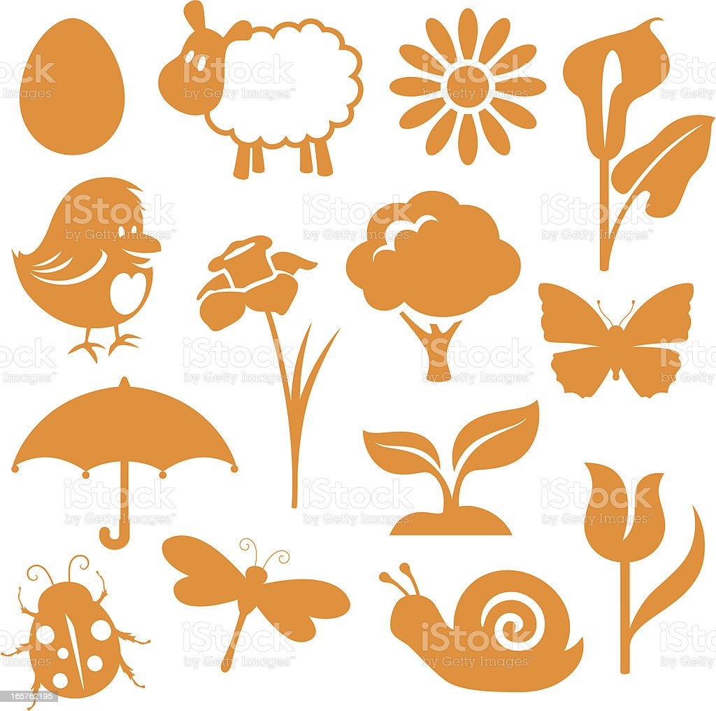 Spring Icons royalty-free stock vector art