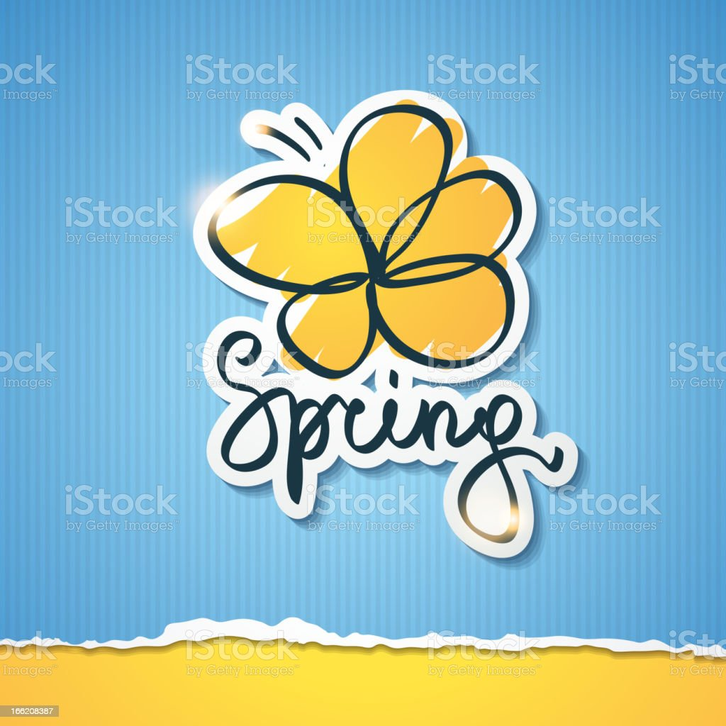 spring illustration, vector eps 10 royalty-free stock vector art