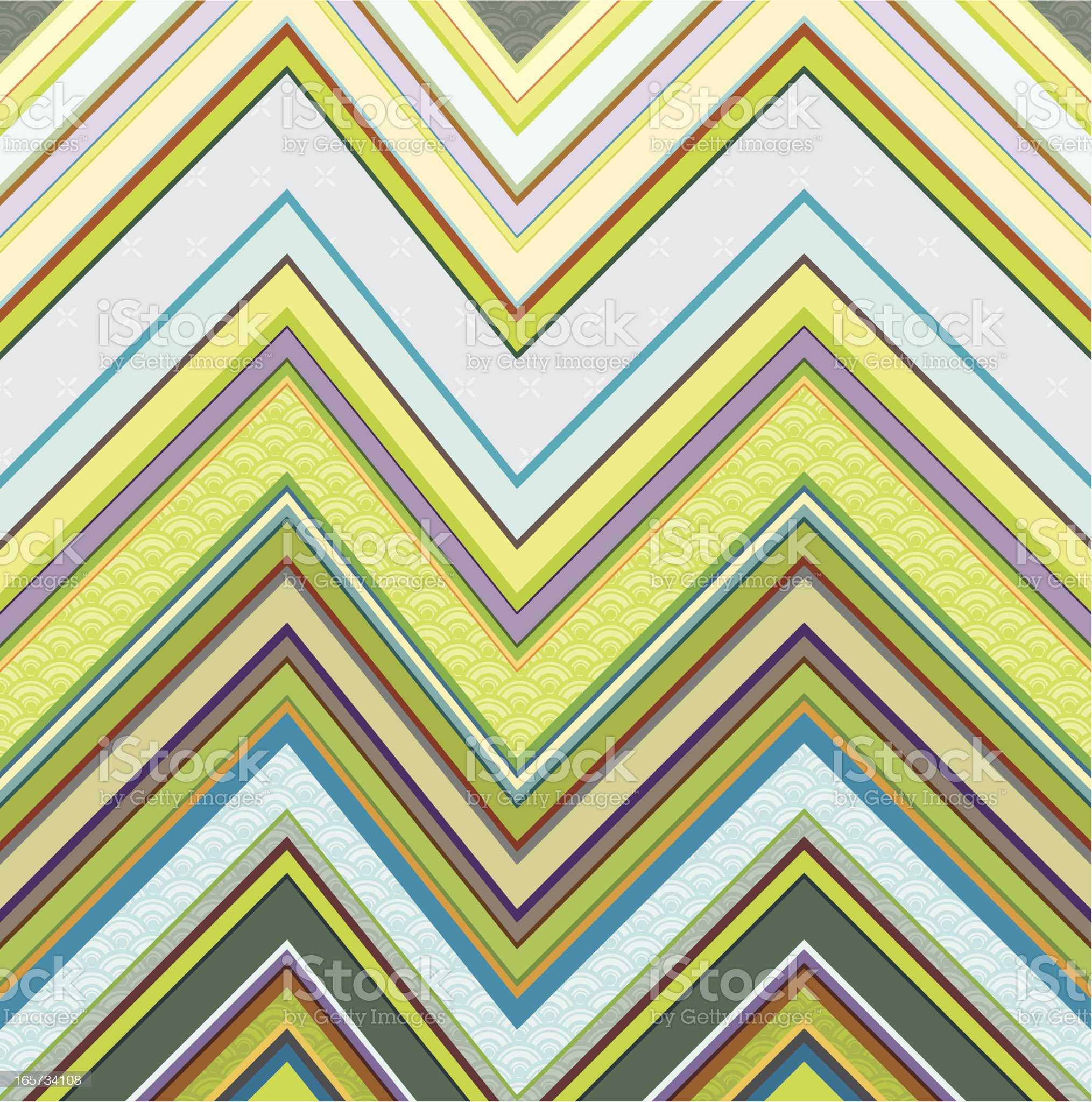 Spring in zigzag pattern royalty-free stock vector art