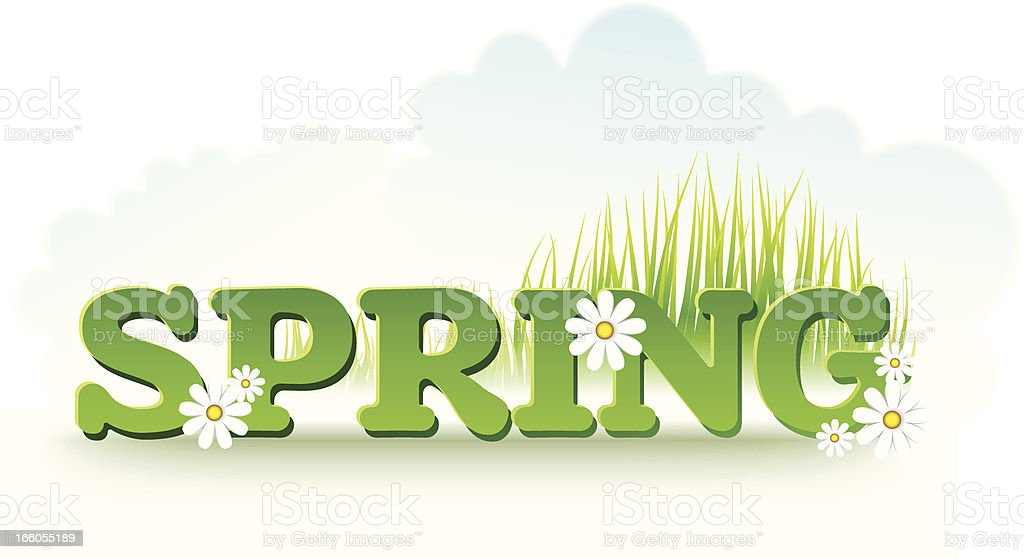Spring inscription royalty-free stock vector art