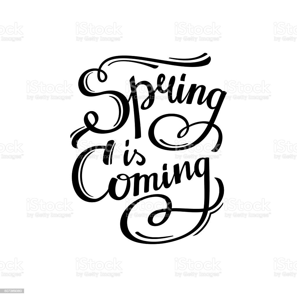 Spring is Coming vector art illustration