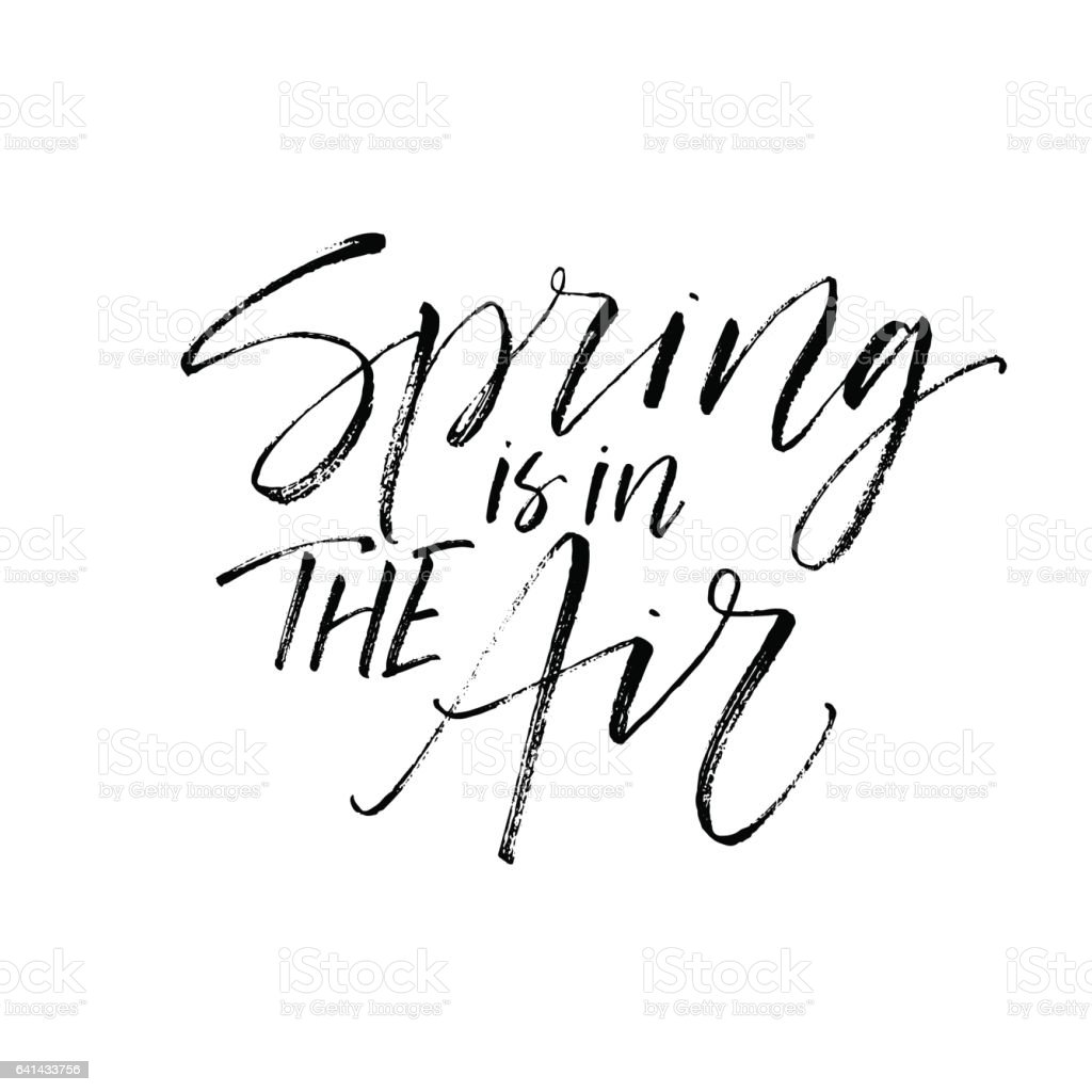 spring is in the air postcard stock vector art 641433756 istock
