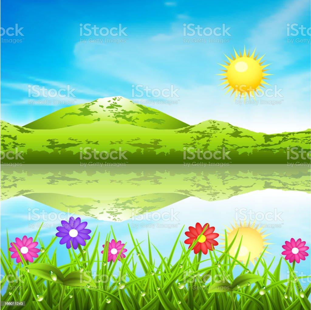 Spring landcape royalty-free stock vector art