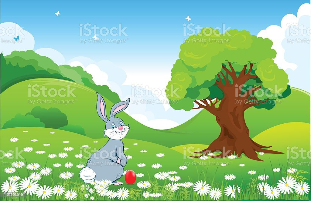 Spring landscape royalty-free stock vector art