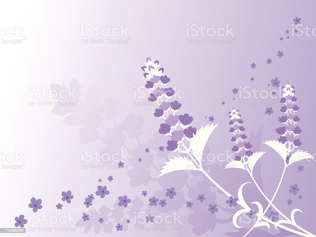 Spring - Lavender Background royalty-free stock vector art