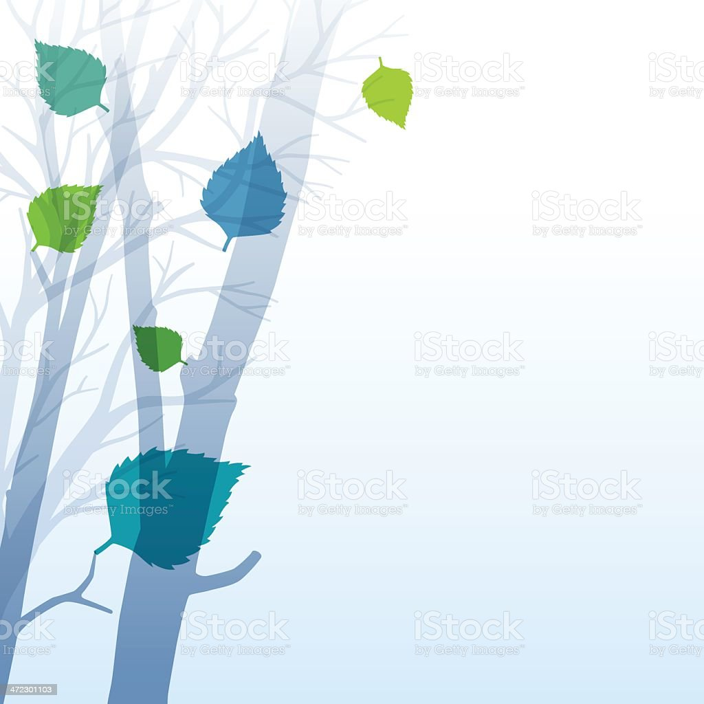 Spring Leaves Background vector art illustration