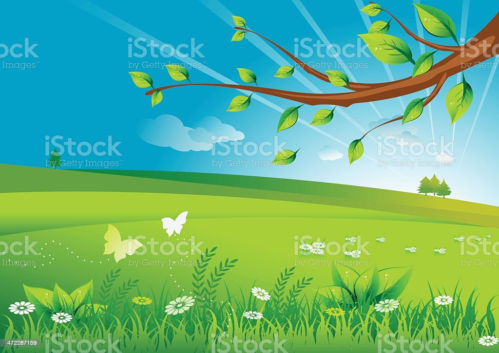 Spring morning royalty-free stock vector art