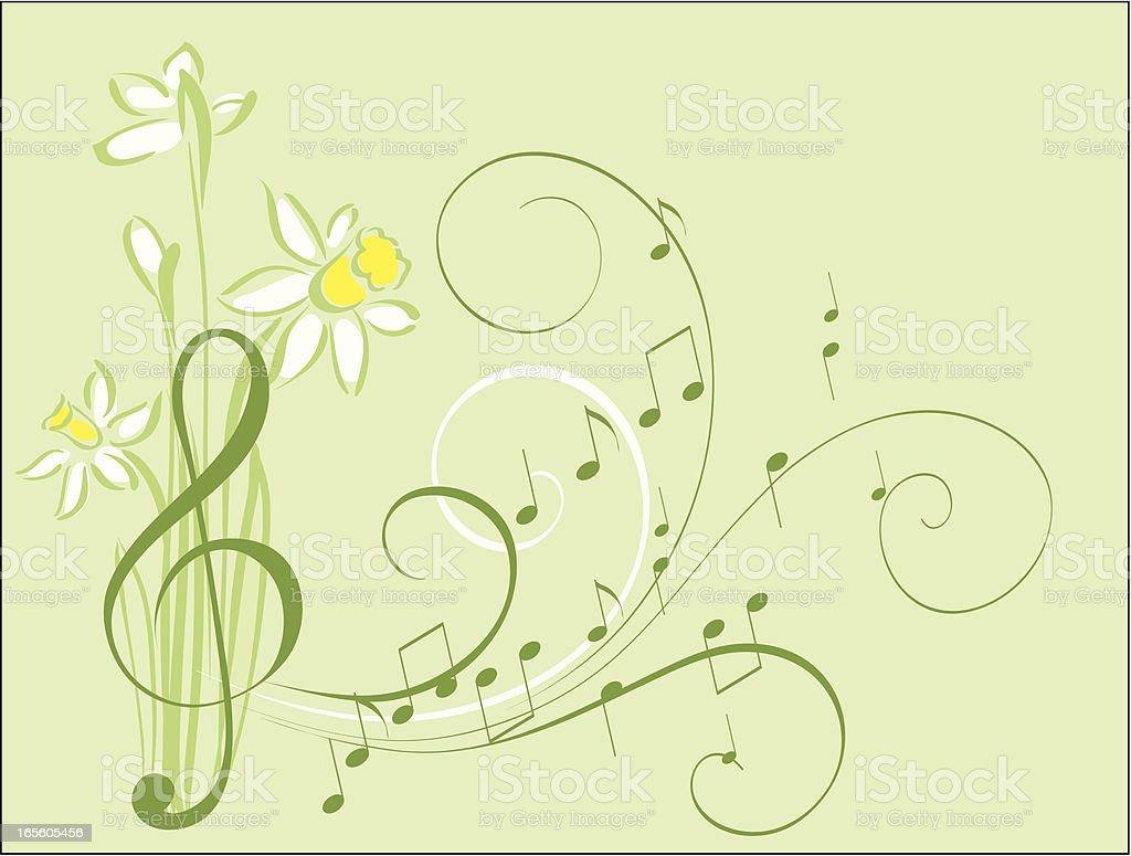 Spring music royalty-free stock vector art