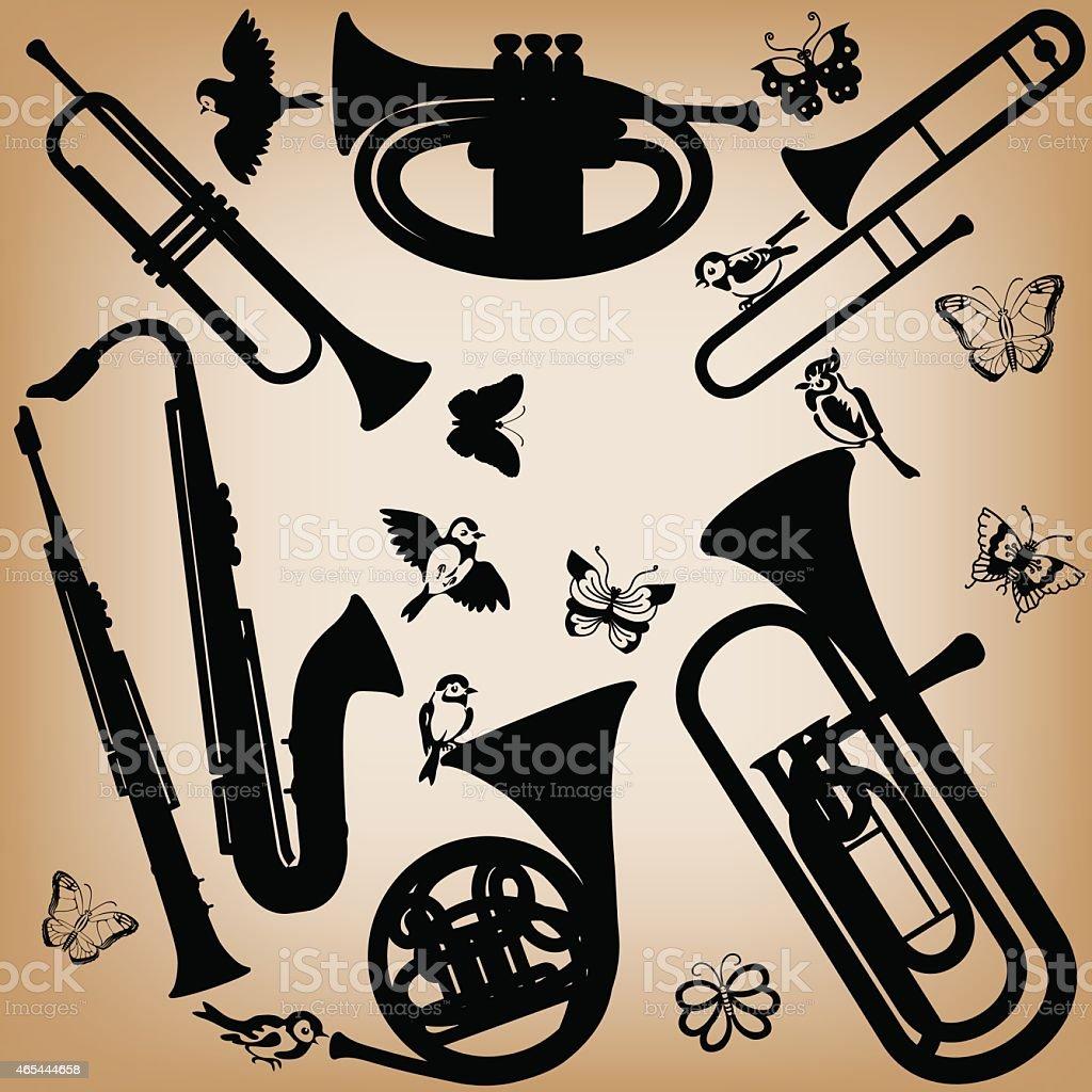 spring music vector art illustration