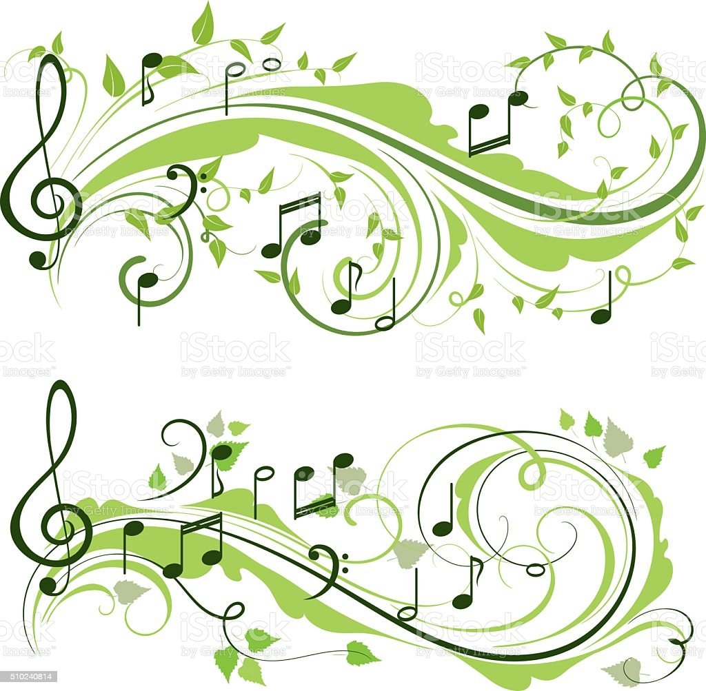 Spring music vector art illustration