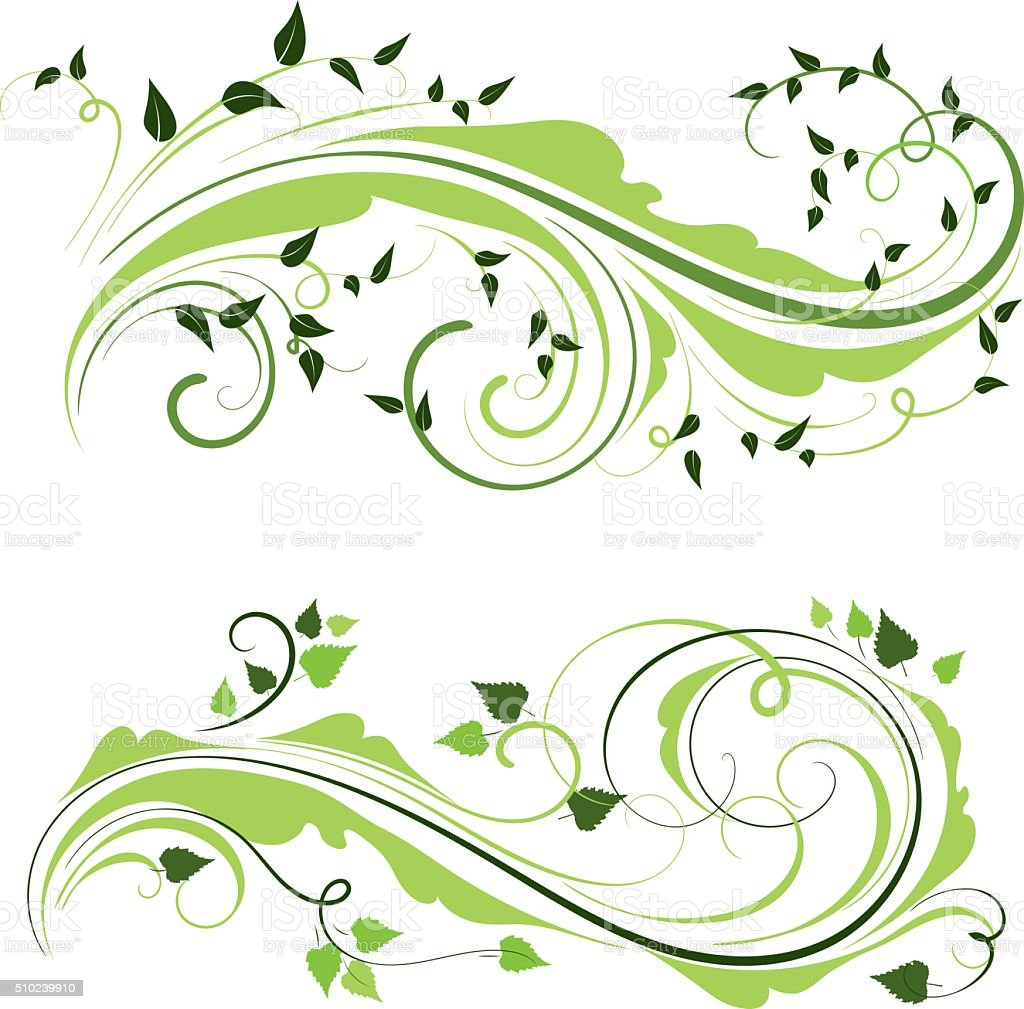 Spring ornaments vector art illustration