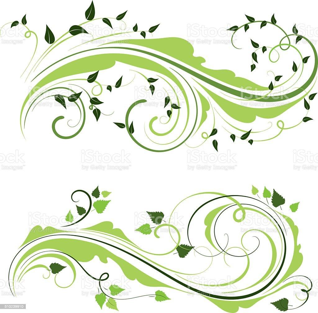 Spring ornaments vector art illustration