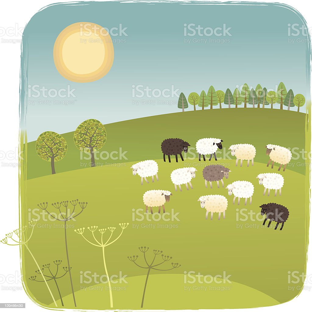 Spring picture royalty-free stock vector art