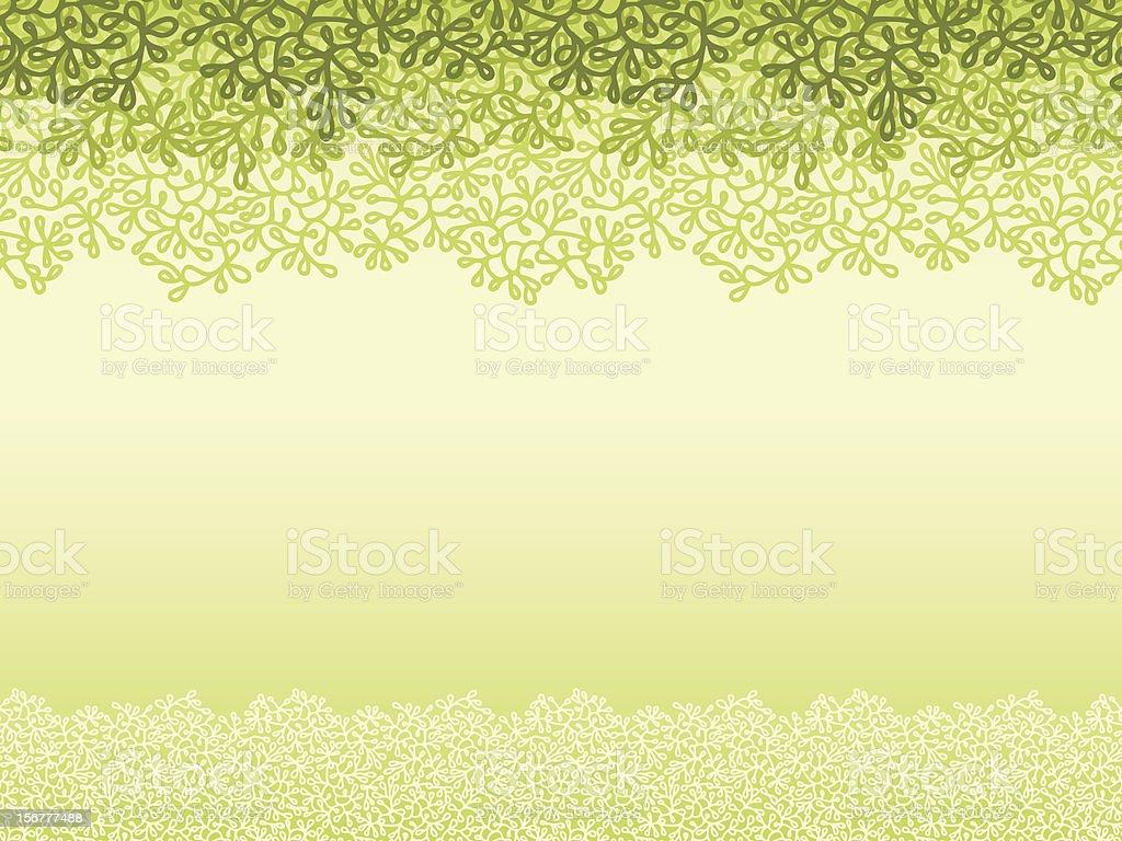 Spring Plants Horizontal Seamless Background royalty-free stock vector art