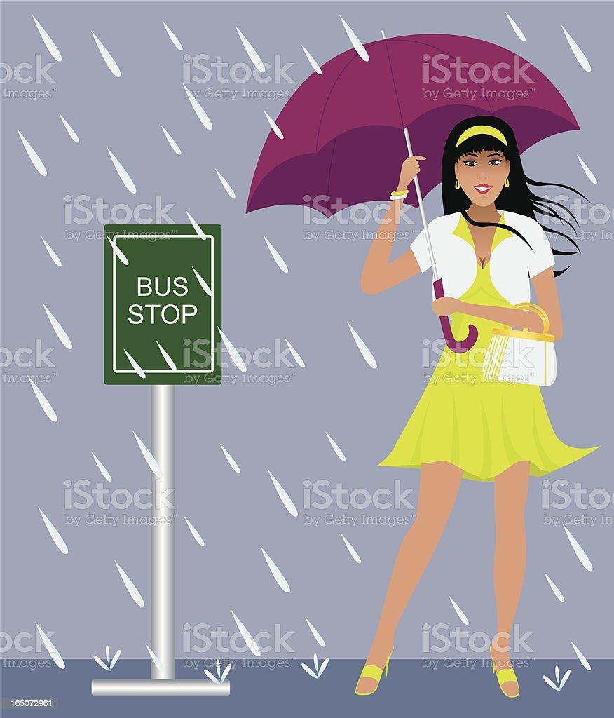 Spring Rain royalty-free stock vector art