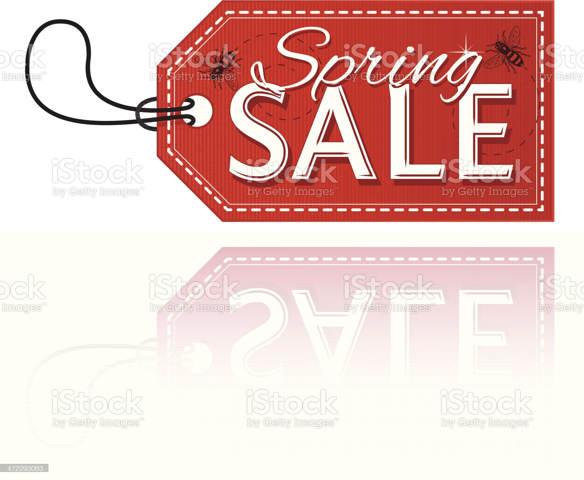 Spring sale royalty-free stock vector art