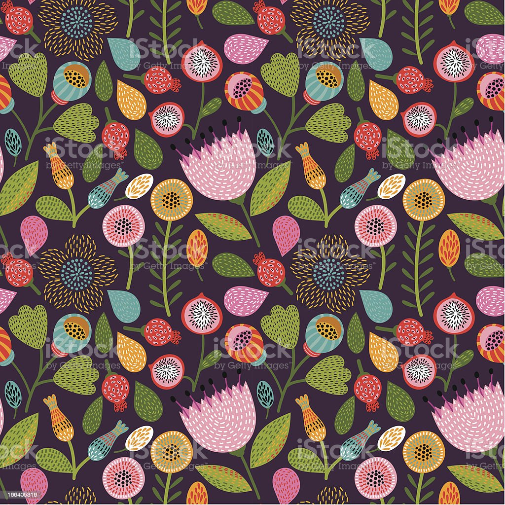 Spring seamless floral pattern royalty-free stock vector art