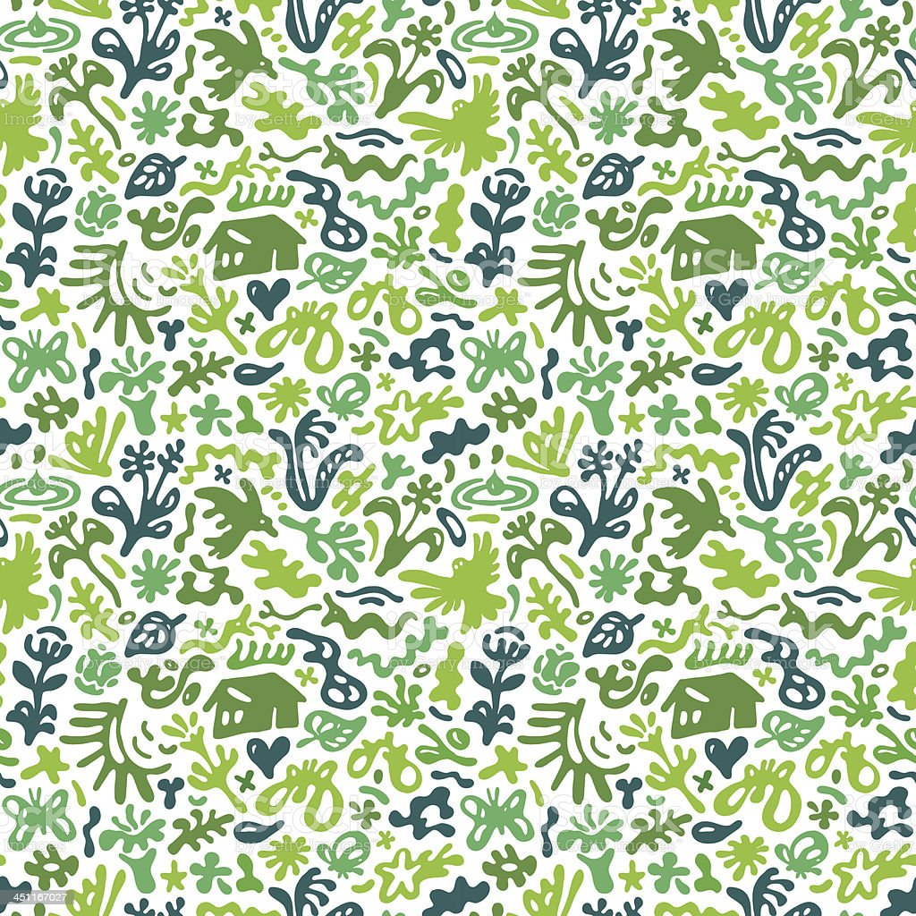 spring - seamless vector pattern royalty-free stock vector art