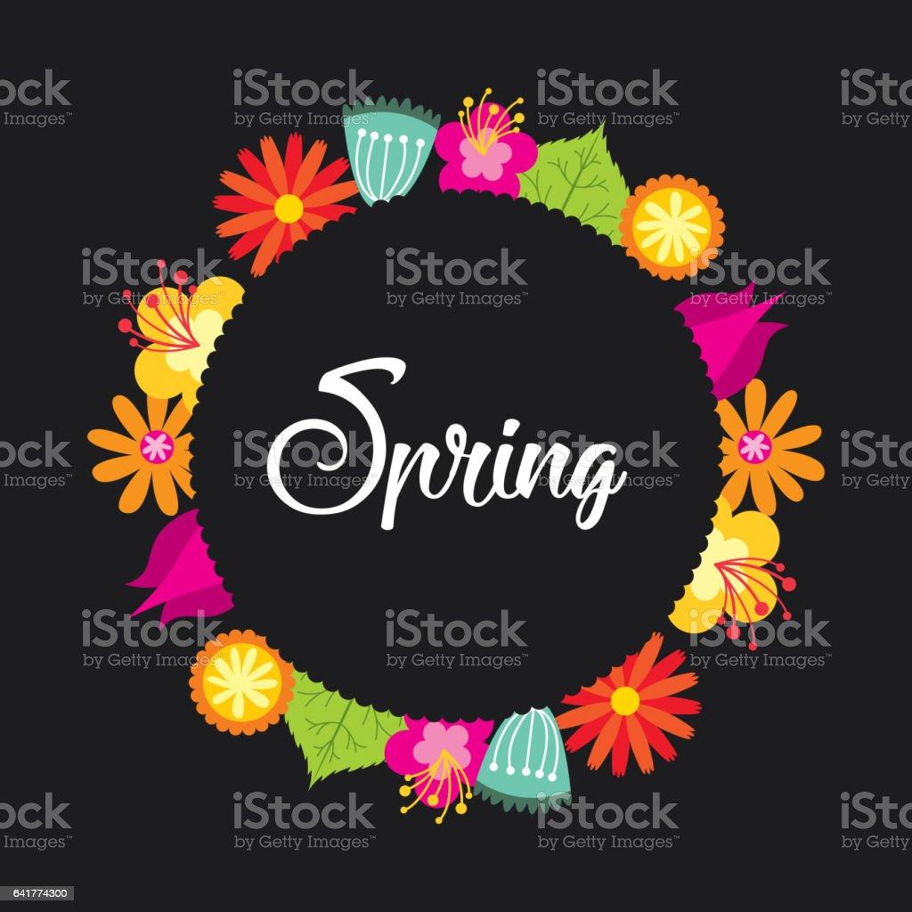 spring season design vector art illustration
