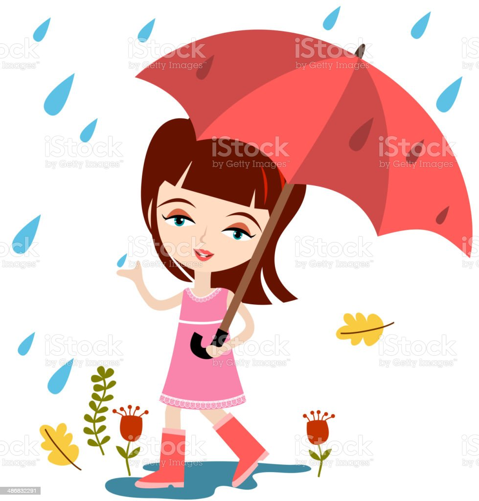 Spring Shower royalty-free stock vector art