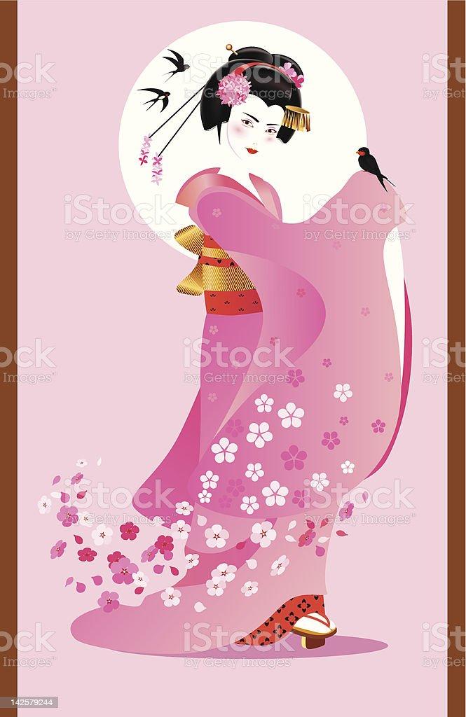Spring spirit vector art illustration
