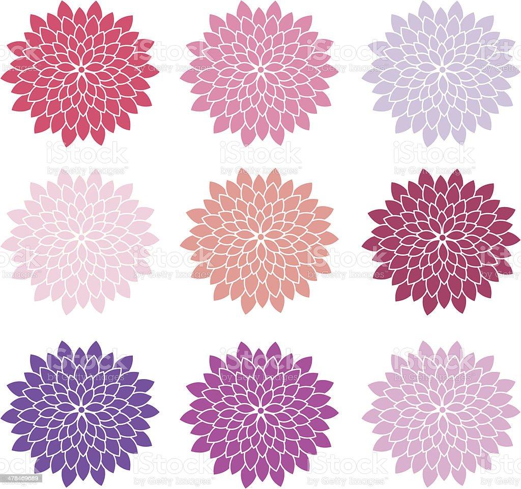 Spring Summer Wedding Flower vector art illustration
