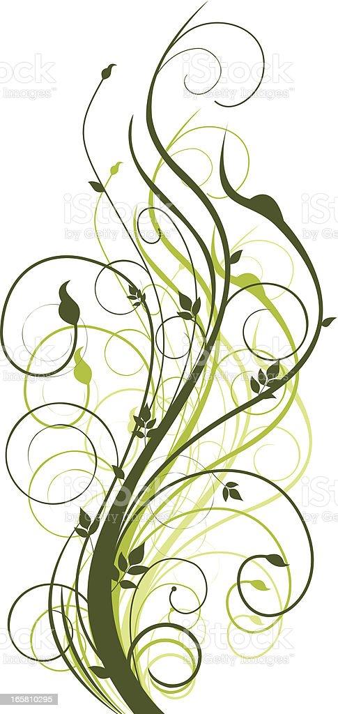 spring Swirls vector art illustration